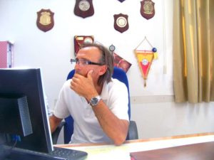 capo ormeggiatori Antonio Guaiana in Ufficio