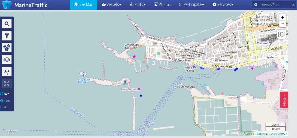 Pagina Marine Traffic